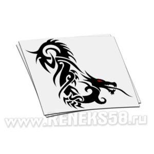 Наклейка дракон вар 11