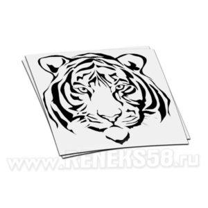 Наклейка голова Тигра
