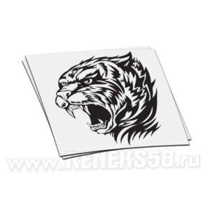 Наклейка голова Тигра с оскалом