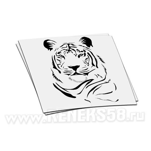 Наклейка голова Тигра вар1