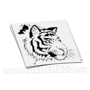 Наклейка голова Тигра вар2
