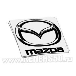 Наклейка логотип Mazda с надписью