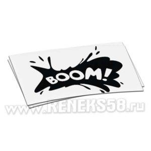Наклейка BOOM клякса
