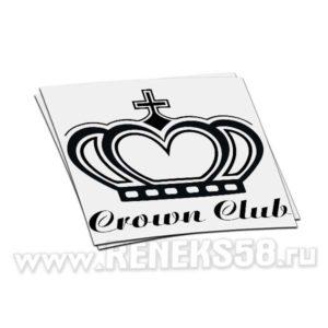 Наклейка Crown Club