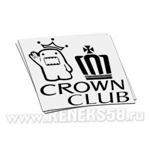 Наклейка Crown Club Domo Kun