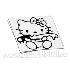 Наклейка Hello Kitty зомби
