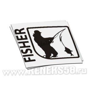 Наклейка Рыбак Fisher