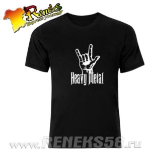Черная футболка Heavy metal