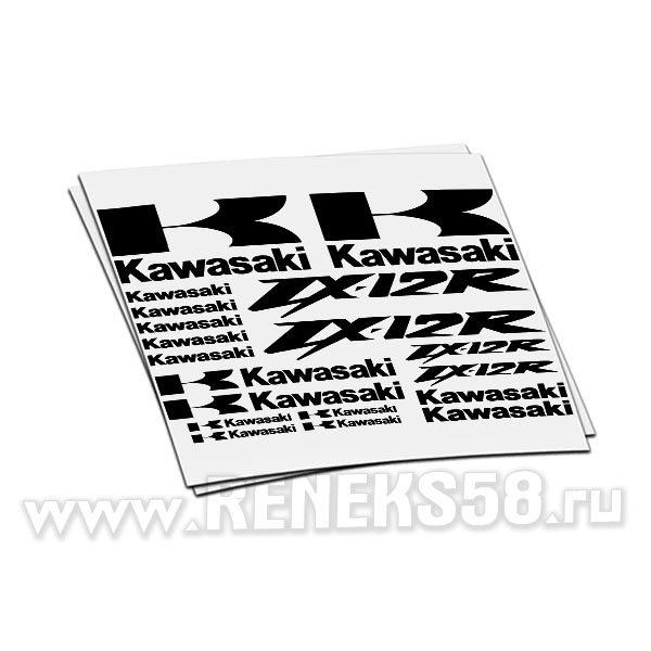 Комплект наклеек Kawasaki ZX-12r