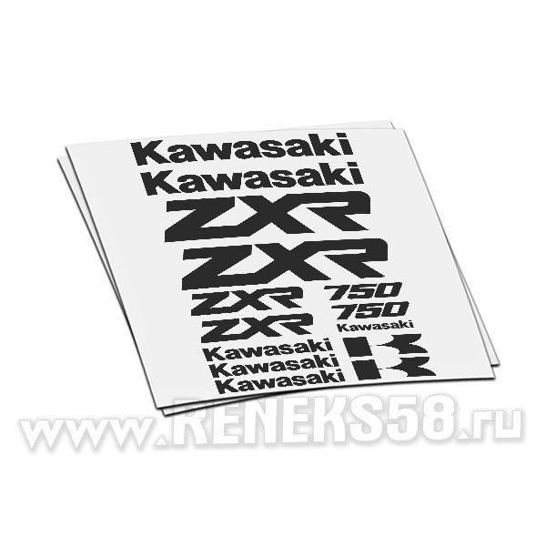 Комплект наклеек Kawasaki zxr 750