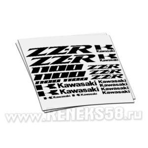 Комплект наклеек Kawasaki zz-r 1100