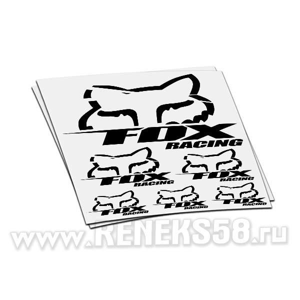 Комплект наклеек Fox racing