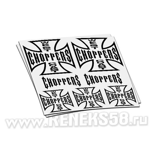 Комплект наклеек West coast choppers вар1