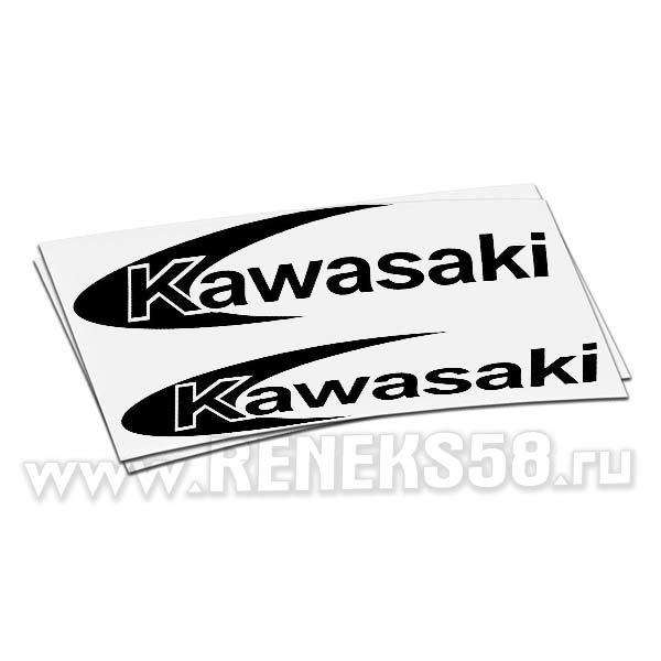 Наклейка Kawasaki logo 2шт